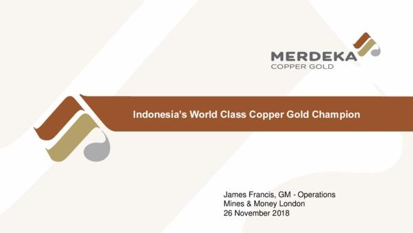 Indonesia's World Class Copper Gold Champion