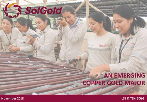 SolGold - An Emerging Copper Gold Major