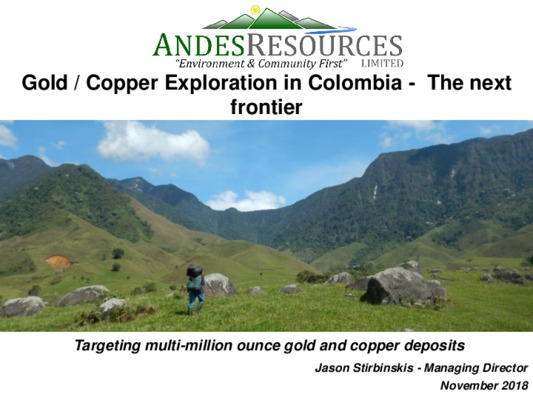 Gold/Copper Exploration in Colombia - The Next Frontier
