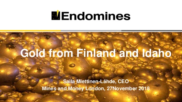Gold from Finland and Idaho