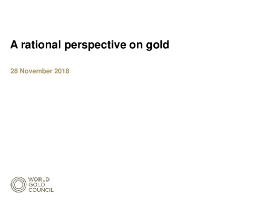 A Rational Perspective on Gold