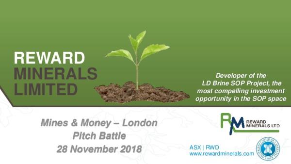 Reward Minerals Ltd - Pitch Battle