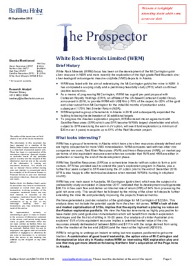 The Prospector Research Note - White Rock Minerals (ASX:WRM)