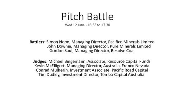 Pitch Battle - Pure Minerals
