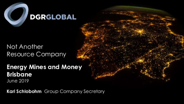 Mining Spotlight: DGR Global