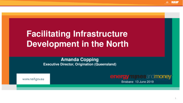 Facilitating Infrastructure Development in the North