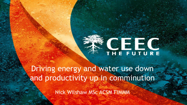Driving energy and water use down and productivity up in comminution