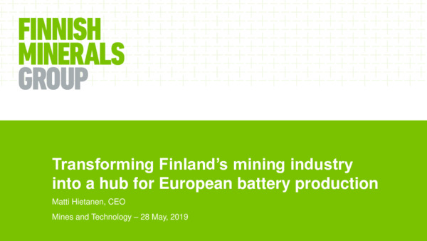 Transforming Finland's mining industry into a hub for European battery production