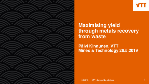 Maximising yield through metals recovery from waste
