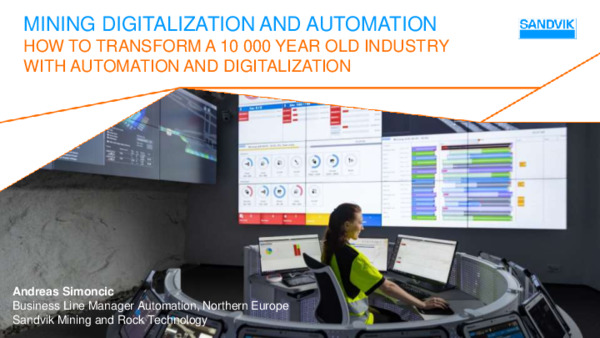 Mining Digitalization and Automation