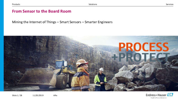 Mining the Internet of Things: Smart Sensors, Smarter Engineers