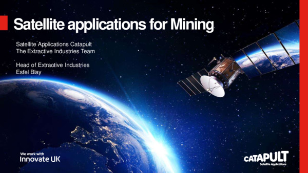 Satellite applications for mining