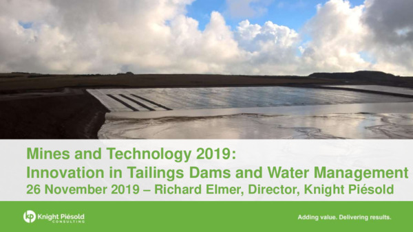 Innovation in Tailings Dams and Water Management
