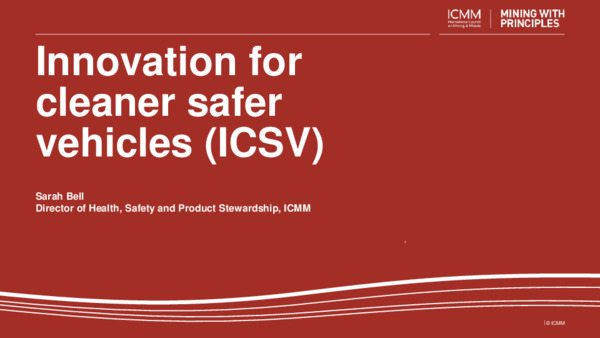 Innovation for cleaner, safer vehicles (ICSV)