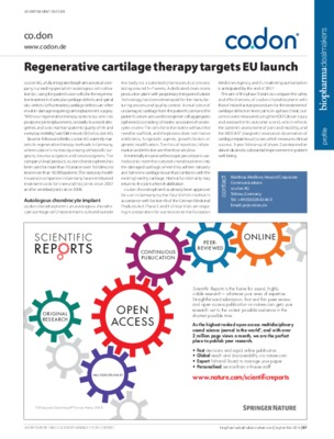 Regenerative cartilage therapy targets EU launch