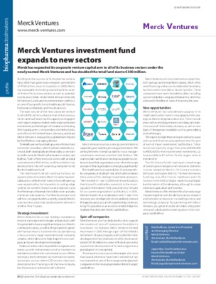 Merck Ventures investment fund expands to new sectors