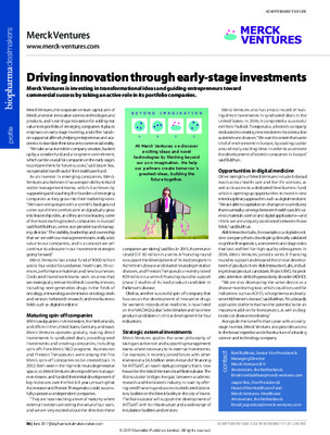 Driving innovation through early-stage investments
