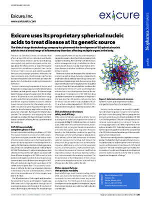 Exicure uses its proprietary spherical nucleic acids to treat disease at its genetic source