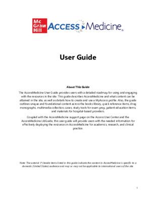 AccessMedicine User Guide