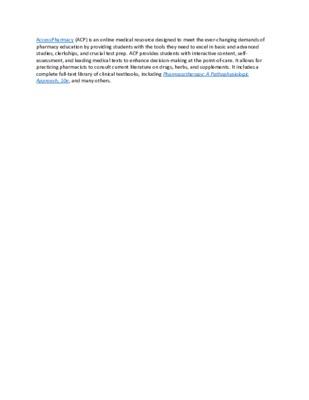 LibGuide  Database Description - AccessPharmacy