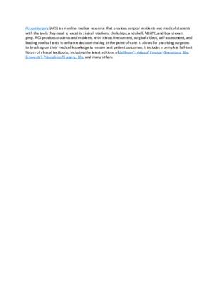 LibGuide  Database Description - AccessSurgery