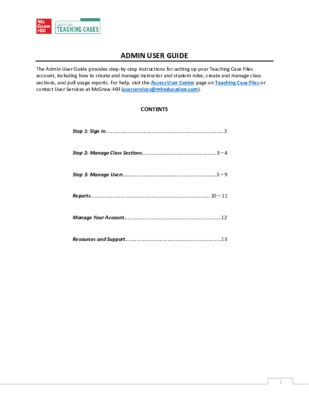 Admin User Guide - Teaching Case Files Collection