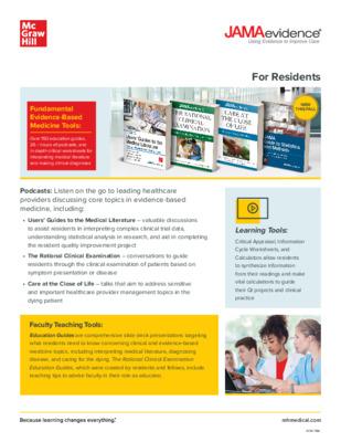 JAMAevidence Resident Flyer