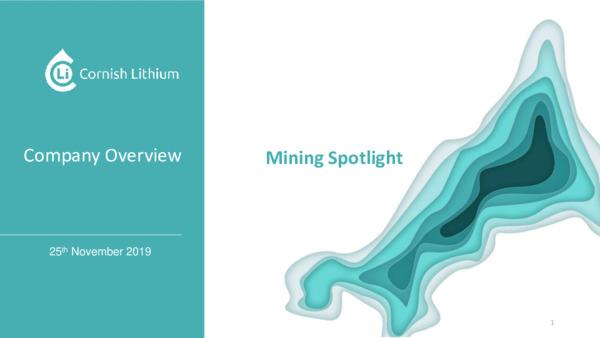 Mining Spotlight: Cornish Lithium
