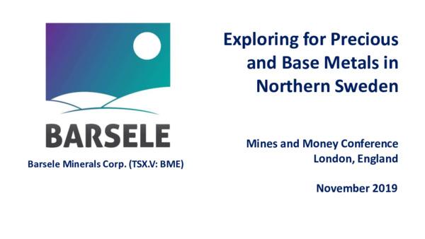 Premium Mining Spotlight: Barsele Minerals / Belcarra Group