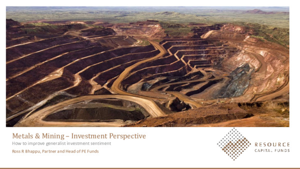 Keynote Address: Winning back the generalist investor – is the mining industry doing enough?