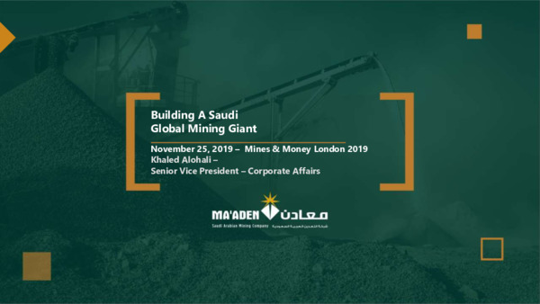Premium Mining Spotlight: How the Government is enabling Saudi Arabia's mining industry's business case