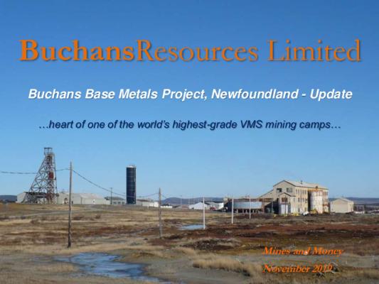 Mining Spotlight: Buchans Resources