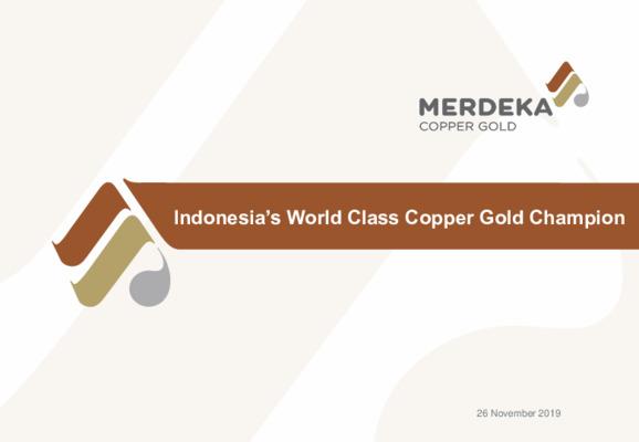 Mining Spotlight: Merdeka Copper Gold