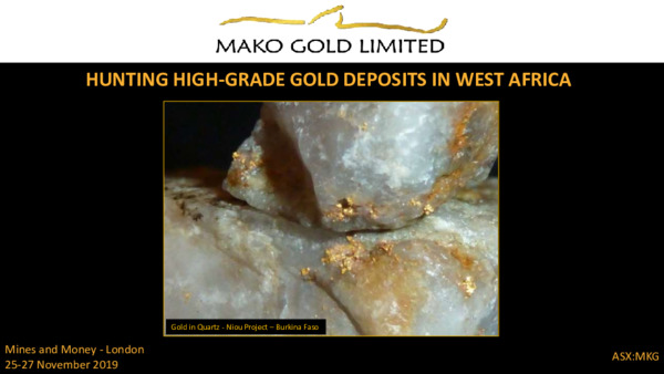 Mining Spotlight: Mako Gold