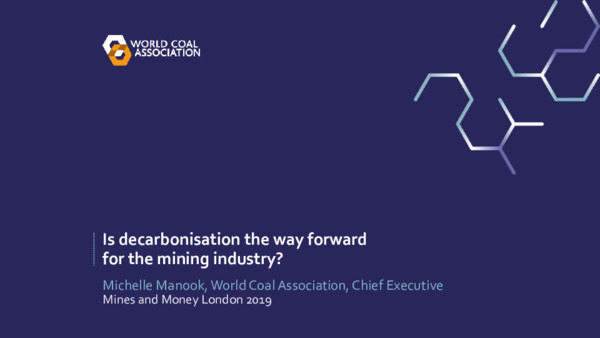 Address: Is decarbonisation the way forward for the mining industry?