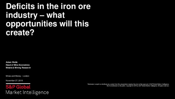 Investment Thesis: Deficits in the Iron Ore industry – what opportunities will this create?