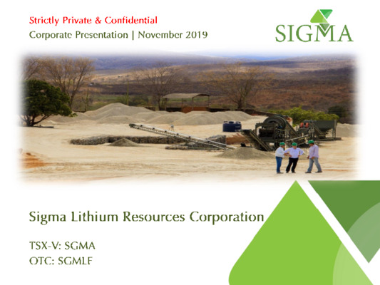 Mining Spotlight: Sigma Lithium Resources