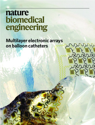 Multilayer electronic arrays on balloon catheters