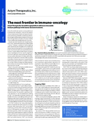 The next frontier in immuno-oncology