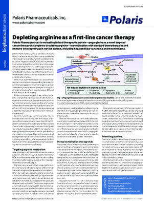 Depleting arginine as a first-line cancer therapy