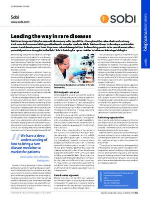 Leading the way in rare diseases