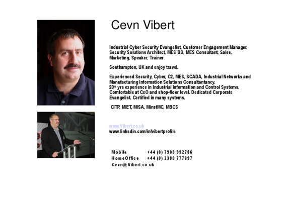 Cevn Vibert Introduction Presentation
