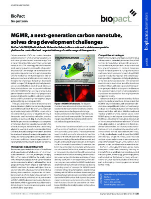MGMR, a next-generation carbon nanotube, solves drug development challenges