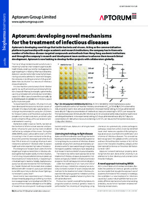 Aptorum: developing novel mechanisms for the treatment of infectious diseases