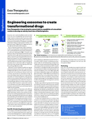Engineering exosomes to create transformational drugs