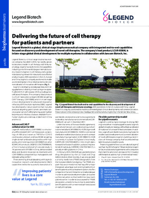 Delivering the future of cell therapy for patients and partners