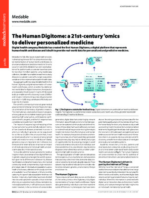 The Human Digitome: a 21st-century 'omics to deliver personalized medicine