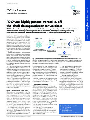 PDC*vac: highly potent, versatile, off-the-shelf therapeutic cancer vaccines