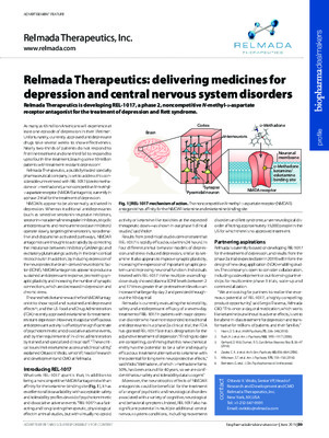 Relmada Therapeutics: delivering medicines for depression and central nervous system disorders