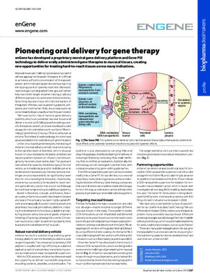 Pioneering oral delivery for gene therapy